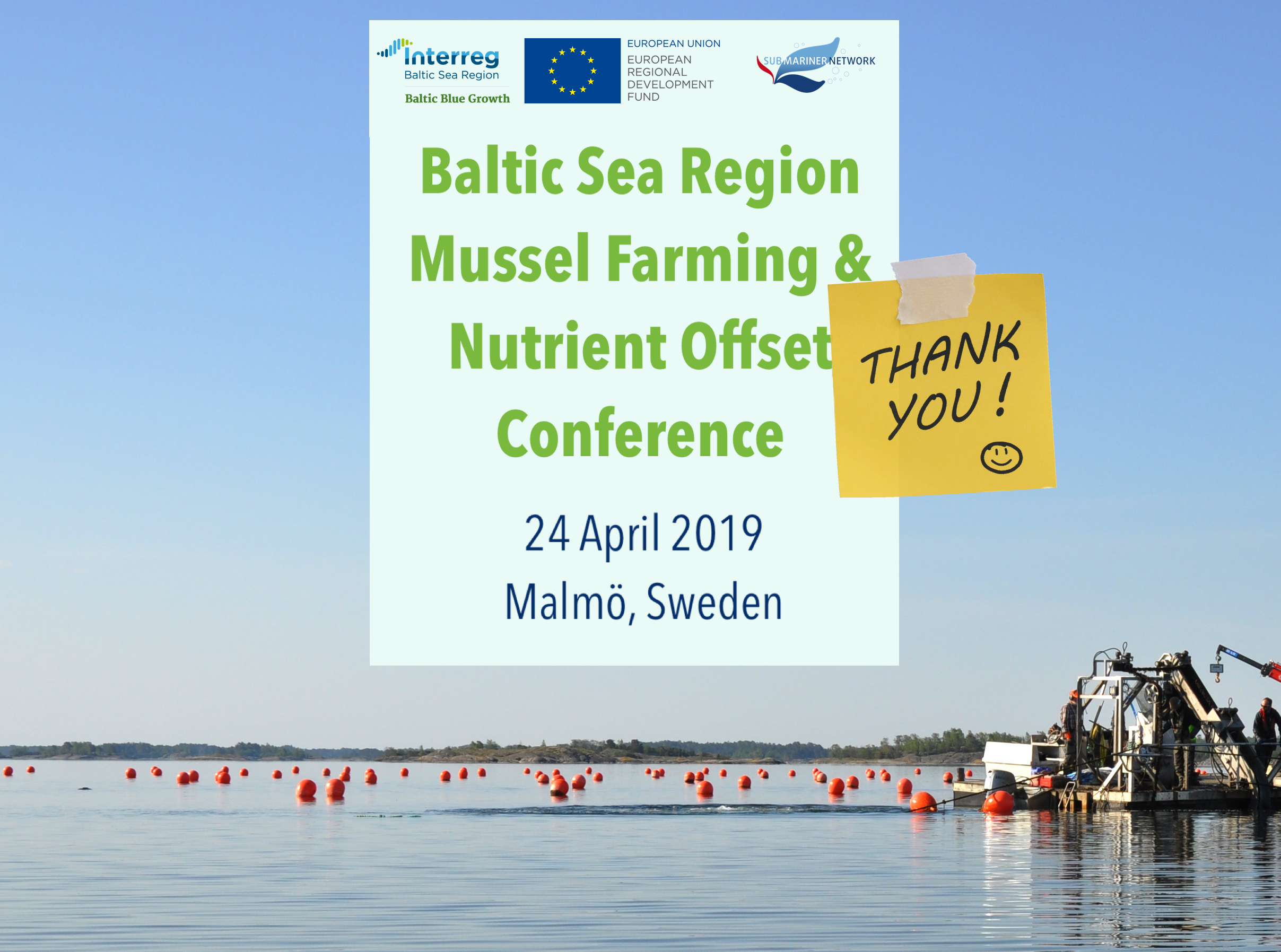REGISTER for the Baltic Sea Mussel Farming & Nutrient Offset Conference