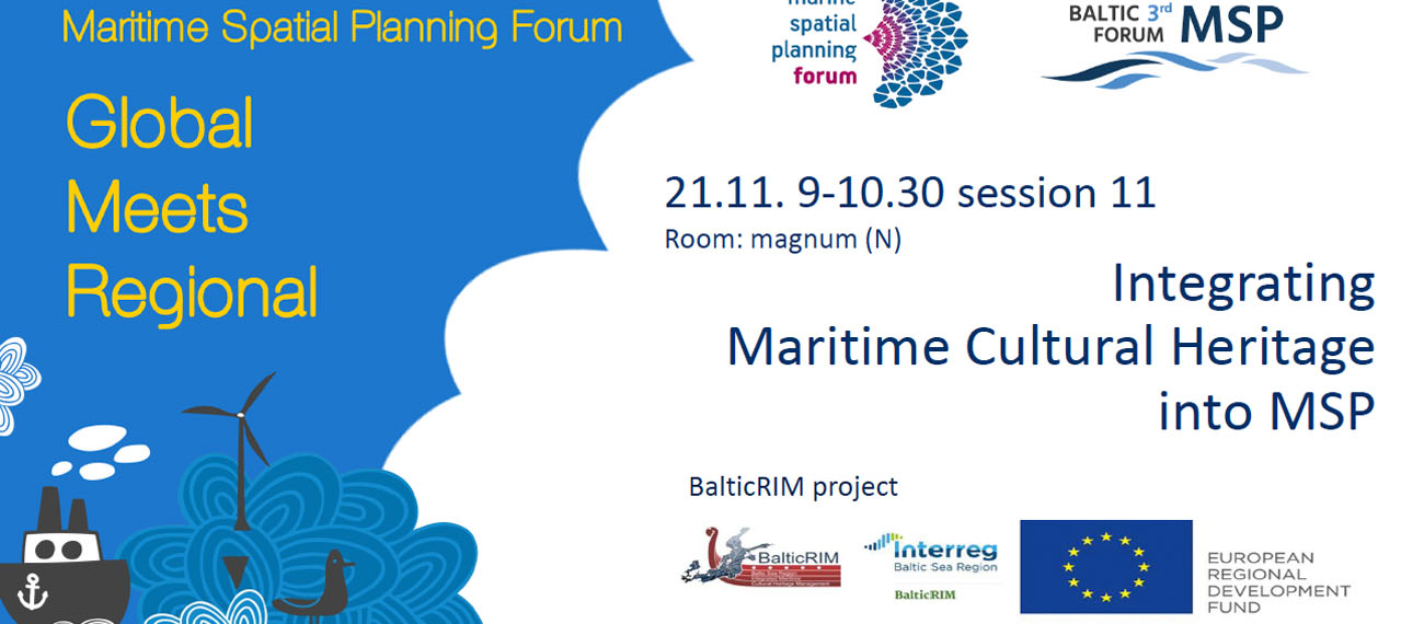 The Maritime Spatial Planning Forum: Global Meets Regional