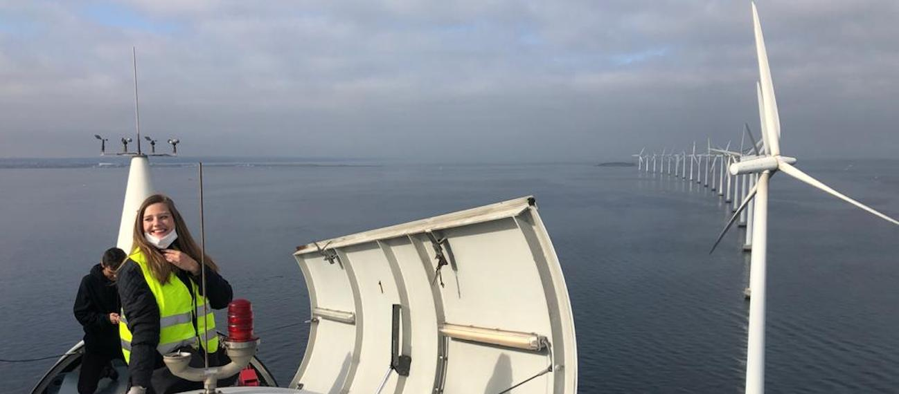 Submariner in action! We joined the united demonstration pilot and climbed an offshore wind farm in Denmark